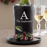 Personalized Christmas Top Hat Wine Holder