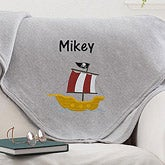 Personalized Sweatshirt Blanket for Boys - 12189