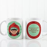 Large Christmas Hot Cocoa Mugs Personalized for Kids