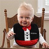 Personalized Baby Bibs - Black Tuxedo - 12195