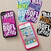 Personalized iPhone Case Insert - Text Message