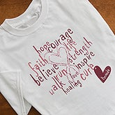 Personalized Breast Cancer Awareness Clothing - Hope, Courage, Life - 12202