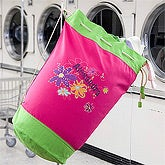 Personalized Laundry Bag for Girls - Flower Power - 12205
