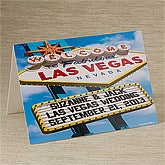 Personalized Greeting Cards - Welcome To Las Vegas - 12218