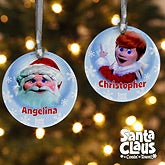 Personalized Christmas Ornaments - Santa Claus Is Comin' To Town - 12224