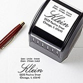 Personalized Self Inking Address Stamp - All About Family - 12228