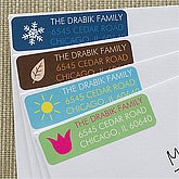 Personalized Return Address Labels - Four Seasons - 12233