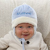 Personalized Winter Baby Hats for Boys - Blue - 12234
