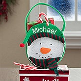 Personalized Kids Christmas Treat Bags - Snowman - 12248