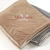 Personalized Tan Sherpa Blankets - Initially Yours