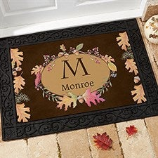 Personalized Autumn Leaves Doormats - 12261