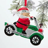 Personalized Christmas Ornaments - Motorcycle Santa - 12269