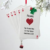 Personalized Poker Christmas Ornaments - 12273