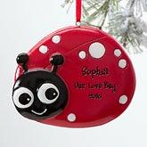 Personalized Christmas Ornaments for Girls - Ladybug - 12274