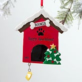 Personalized Pet Christmas Ornaments - Doghouse - 12279