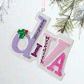 Personalized Girls Christmas Ornaments - Diva - 12280