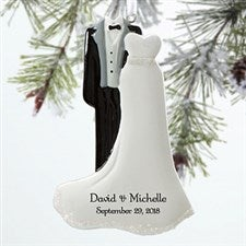 Personalized Wedding Christmas Ornaments - Mr & Mrs - 12284