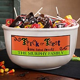 Personalized Halloween Candy Bowl - Trick or Treat Sweets - 12301