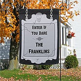 Personalized Halloween Garden Flags - Enter If Your Dare - 12303