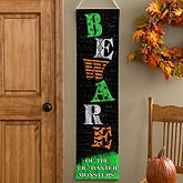 Personalized Halloween Banner - Little Monsters - 12304