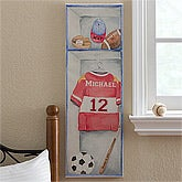Boys Personalized Sports Jersey Canvas Artwork - 12307