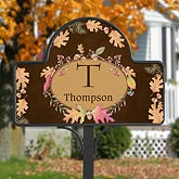Personalized Fall Garden Stake - Autumn Leaves - 12309
