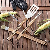 Personalized BBQ Utensil Set - Grill Master Design - 1231