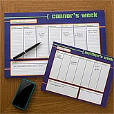 Personalized Desk Pad Calendars for Men - His Weekly Agenda - 12311