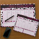 Personalized Desk Pad Calendars for Women - Her Weekly Agenda - 12312