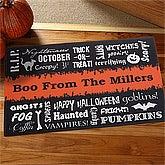 Halloween Words Personalized Doormats - 12314