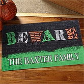 Personalized Halloween Doormats - Beware - 12324