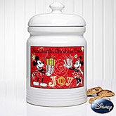 Personalized Disney Christmas Cookie Jar - Mickey Mouse & Minnie Mouse - 12328