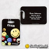 Personalized Smiley Face Luggage Tags - 12338