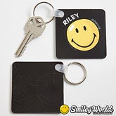 Personalized Smiley Face Key Ring - 12345