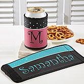 Personalized Can & Bottle Wrap - Rhinestone Dots - 12357