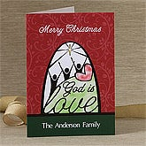 Personalized Christian Christmas Cards - God Is Love - 12366