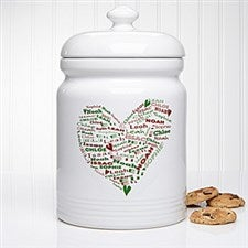 Personalized Christmas Cookie Jar - Her Heart of Love - 12368