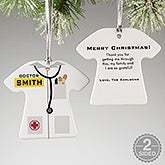 Medical Uniform Personalized Ornament