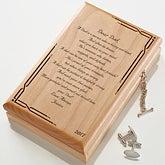 Personalized Wood Jewelry Valet Box - Dad Poem - 12379