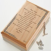 Personalized Wood Jewelry Valet Box - Dad Poem - 12379