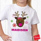 Personalized Girls Christmas Nightgowns - Christmas Reindeer