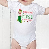 Personalized baby christmas gifts personalizationmall personalized babys first christmas clothing 12395 negle Images
