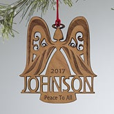 Personalized Christmas Ornaments - Family Angel - 12397