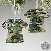 Personalized Military Christmas Ornaments - Army - 12398