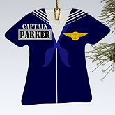 Personalized Military Christmas Ornaments - Navy - 12399