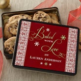 Personalized Christmas Cookies Gift Tin - 12405