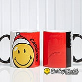 Personalized Kids Christmas Mugs - Smiley Face - 12406