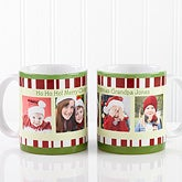 Personalized Large Christmas Photo Coffee Mugs