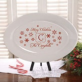 Personalized Holiday Serving Platter - Winter Wonderland - 12417