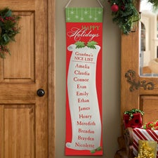 c84828e574d Personalized Christmas Door Banners - Family Christmas List - 12423